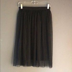 Topshop tulle skirt.